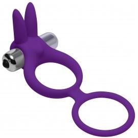 Throbbin tolva Cock & Ball Ring con estimulador de clítoris de vibración