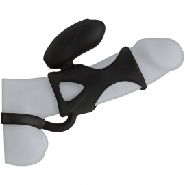 Kink Vibrating Silicone Cock Cage with Ball Strap