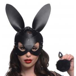 Bunny Tail Anal Plug and Mask Set