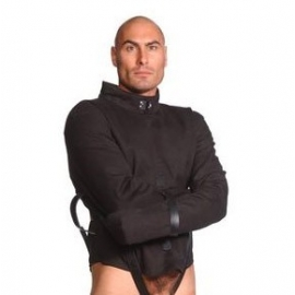 Strict Leather Black Canvas Straitjacket