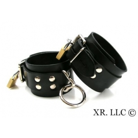 Strict Leather Locking Rubber Restraints
