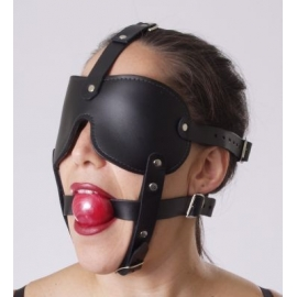 Gag et bander les yeux des harnais de tête