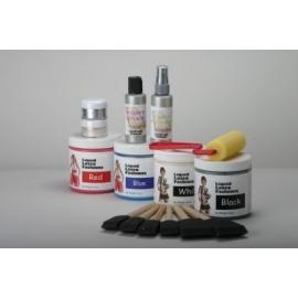 Kit de la pintura de cuerpo de látex líquido