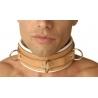 Estricto cuero acolchado Hospital estilo moderación Collar
