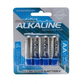 Doc Johnson pilas alcalinas AA 4-Pack