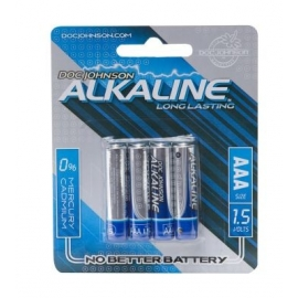 Doc Johnson pilas alcalinas AAA 4-Pack