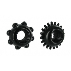 Black Nubbed Cock Rings