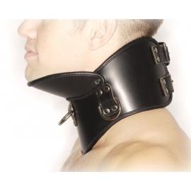 Collar de postura estricta cuero BDSM