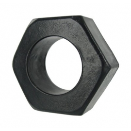 Écrou hexagonal Cockring - noir