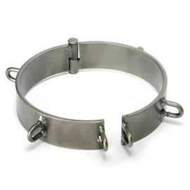 Collier d'esclave - verni 6 pouces d'acier