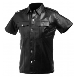 Lambskin Leather Police Shirt (Large)