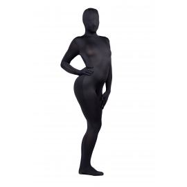 Zentai completo cuerpo Spandex traje negro