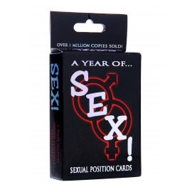 Um ano de sexo! Jogo de cartas de posição sexual