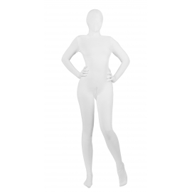 Full Body White Skin Suit with Front Access- S/M