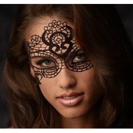 La máscara encantada de encaje negro