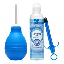 Bulbo Enema limpia fácil y lubricante Launcher Kit